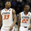 OSU\'s Marcus Smart and Markel Brown during the last seconds of the game against Oregon in the second round of the NCAA Basketball tournament in San Jose, CA, Mar. 21, 2013. STEPHEN PINGRY/Tulsa World