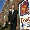 Apartment broker Mike Buhl stands outside the Deep Deuce Apartments in downtown Oklahoma City, OK, Monday, Dec. 31, 2007. BY PAUL HELLSTERN, THE OKLAHOMAN