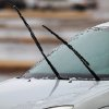 Wipers pulled away from this car\'s windshield in a parking lot near NW 58 and May Ave, Thursday, Jan. 28, 2010. Photo by Jim Beckel, The Oklahoman