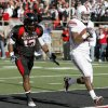 OU\'s Ryan Broyles scores a touchdown in front of Texas Tech\'s Julius Howard during the college football game between the University of Oklahoma Sooners (OU) and Texas Tech University Red Raiders (TTU ) at Jones AT&T Stadium in Lubbock Okla., Saturday, Nov. 21, 2009. Photo by Bryan Terry, The Oklahoman