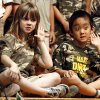 Truman Elementary School first grade students Elise McCormick and Aaron Xue perform Jungle Party Tonight for students and parents in Norman, Okla. on Thursday, April 23, 2009. Photo by Steve Sisney, The Oklahoman