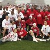 The legends pose for a group photograph before the OU Legends flag football game for the University of Oklahoma (OU) Sooners at Gaylord Family/Oklahoma Memorial Stadium on Saturday, April 17, 2010, in Norman, Okla. Photo by Steve Sisney, The Oklahoman