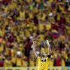 Photo - Colombia's Mario Yepes celebrates after the group C World Cup soccer match between Colombia and Ivory Coast at the Estadio Nacional in Brasilia, Brazil, Thursday, June 19, 2014.  Colombia won the match 2-1. (AP Photo/Marcio Jose Sanchez)