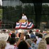 Former President George W. Bush and wife, Laura, were given a warm reception when they arrived at Woodward\'s July 4th celebration and re-dedication of Crystal Beach Park. Many of the 6,000 attending wore patriotic clothing and waved American flags. Photo by Jim Beckel, The Oklahoman