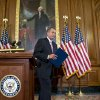 Speaker of the House John Boehner, R-Ohio, finishes a prepared statement to reporters about the elections and the unfinished business of Congress, at the Capitol in Washington, Wednesday, Nov. 7, 2012. The first post-election test of wills could start next week when Congress returns from its election recess to deal with unfinished business — including a looming