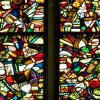 At Preachers\' Church, the colorful stained-glass windows shattered during World War II have been beautifully salvaged. (Photo by Rick Steves)