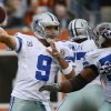 Photo - Dallas Cowboys quarterback Tony Romo (9) passes against the Cincinnati Bengals in the first half of an NFL football game, Sunday, Dec. 9, 2012, in Cincinnati. (AP Photo/Michael Keating)