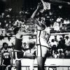 Former OU basketball player Wayman Tisdale. Tulsa\'s Wayman Tisdale 23 appears set to block N.W. Kevin Forbes (12). Staff photo by Jim Argo. Photo taken 3/12/1981, photo published 3/13/1981 in The Daily Oklahoman. ORG XMIT: KOD