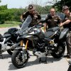 Troopers look at new motorcycles for a safety and educational program Thursday at the Oklahoma Department of Transportation Training Center. Photo by Tiffany Gibson, the oklahoman