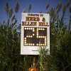 Plants grow around the play clock for the high school football game between Cashion and Crescent in Crescent, Okla., Thursday, Oct. 18, 2012. Photo by Bryan Terry, The Oklahoman