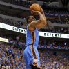 Oklahoma City\'s Daequan Cook (14) shoots the ball during game 1 of the Western Conference Finals in the NBA basketball playoffs between the Dallas Mavericks and the Oklahoma City Thunder at American Airlines Center in Dallas, Tuesday, May 17, 2011. Photo by Bryan Terry, The Oklahoman
