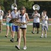 Saxaphone player Christen Hickey marches in formation during Edmond Memorial High School\'s morning band practice in Edmond, OK, Tuesday, July 31, 2012, By Paul Hellstern, The Oklahoman