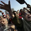 Egyptian protesters chant anti-Muslim Brotherhood slogans as they attend a rally in Tahrir Square, in Cairo, Egypt, Friday, Nov. 30, 2012. Egypt\'s opposition has called for a major rally Friday in Cairo\'s Tahrir Square, where some demonstrators have camped out in tents since last week to protest decrees that President Mohammed Morsi issued to grant himself sweeping powers. Hundreds gathered in the plaza for traditional Friday prayers, then broke into chants of