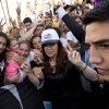 Argentina\'s President Cristina Fernandez, center, poses with supporters as she leaves the Argentine National Congress where she inaugurated the opening legislative session, in Buenos Aires, Argentina, Friday, March 1, 2013. (AP Photo/Victor R. Caivano)