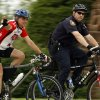 Tim Harrington and master police officer Tim Smith ride to the Bike to Work event in Norman, Okla. on Friday, May 1, 2009.. Photo by Steve Sisney, The Oklahoman