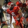 Fresno State\'s Jalen Saunders runs past Hawaii\'s Kamalu Umu in the first half of an NCAA college football game Saturday, Oct. 9, 2010 in Fresno, Calif. (AP Photo/Gary Kazanjian)
