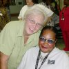 Sharon Dutton, manager of Grace Living Center on left, and Madine Hill, a 40-year employee at Grace, on right. Photo provided.