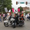 Police block traffic on NW 13 St. during a women\'s rights march to the Oklahoma State Capitol in Oklahoma City, Saturday, April 28, 2012. The demonstration was put on by Unite Women, who organized other demonstrations throughout the world to protest legislation that restricts reproductive rights. Photo by Garett Fisbeck, For The Oklahoman