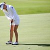 Morgan Pressel of the USA, putts on the 18th green during the first round of the Women\'s British Open golf championship on the Old Course at St Andrews, Scotland, Thursday Aug. 1, 2013. (AP Photo/Scott Heppell)