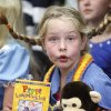 Eight-year-old Bonnie King dresses as Pippi Longstocking, as students at Chisholm Elementary School in Edmond, OK, parade through the halls wearing costumes to match a storybook they\'ve read. Friday, Oct. 29, 2010. By Paul Hellstern, The Oklahoman