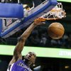 Sacramento Kings\' Tyreke Evans (13) dunks on a fast break against the Orlando Magic during the first half of an NBA basketball game, Wednesday, Feb. 27, 2013, in Orlando, Fla. (AP Photo/John Raoux)