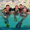 Patrick Wright, Connie Cooper, Examiner Gary Newman, and Gregg Starkel in the pool at the Cleveland County Family YMCA in Norman during the PADI Instructor Examination. Community Photo By: Lea Ann Hughes Submitted By: alan, norman