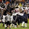 Photo -   Houston Texans running back Arian Foster (23) rushes past Chicago Bears linebacker Nick Roach (53) and defensive tackle Stephen Paea (92) during the first half an NFL football game, Sunday, Nov. 11, 2012, in Chicago. (AP Photo/Nam Y. Huh)