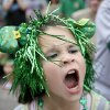 Aubree Hopkins, 8, shouts during the annual St. Patrick\'s Day Parade in downtown Oklahoma City, Saturday, March 17, 2012. Photo by Bryan Terry, The Oklahoman