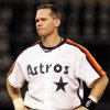 FILE - This Sept. 28, 2007 file photo shows Houston Astros\' Craig Biggio grimacing during a baseball game against the Atlanta Braves in Houston. Steroid-tainted stars Barry Bonds, Roger Clemens and Sammy Sosa have been denied entry to baseball\'s Hall of Fame with voters failing to elect any candidates for only the second time in four decades. Biggio, 20th on the career list with 3,060 hits, topped the 37 candidates with 68.2 percent of the 569 ballots, 39 shy of the 75 percent needed. (AP Photo/Pat Sullivan, File)
