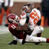 Lendy Holmes (11) brings down Dantrell Savage (22) during the second half of the college football game between the University of Oklahoma Sooners (OU) and the Oklahoma State University Cowboys (OSU) at the Gaylord Family-Memorial Stadium on Saturday, Nov. 24, 2007, in Norman, Okla. Photo By STEVE SISNEY, The Oklahoman