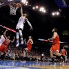 Oklahoma City\'s Russell Westbrook (0) dunks during the NBA game between the Oklahoma City Thunder and the Chicago Bulls at Chesapeake Energy Arena in Oklahoma City, Sunday, Feb. 24, 2013. Photo by Sarah Phipps, The Oklahoman