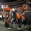 Oklahoma State\'s Justin Blackmon celebrates after a touchdown during the Cowboys 37-14 win over Arizona on Thursday in Stillwater. PHOTO BY BRYAN TERRY, The Oklahoman