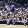 Photo - New York Mets starting pitcher Zack Wheeler steps off the mound while watching San Diego Padres' Yasmani Grandal round the bases with a solo hem run in the fourth inning of a baseball game Sunday, July 20, 2014, in San Diego.  (AP Photo/Lenny Ignelzi)