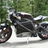 Photo - This Wednesday, June 18, 2014 photo shows Harley-Davidson's new electric motorcycle at the company's research facility in Wauwatosa, Wis. The company plans to unveil the LiveWire model Monday, June 23, at an invitation-only event in New York. (AP Photo/M.L. Johnson)