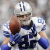 Dallas Cowboys tight end Jason Witten (82) misses a reception against the Tampa Bay Buccaneers during the second half of an NFL football game on Sunday, Sept. 23, 2012, in Arlington, Texas. (AP Photo/LM Otero)
