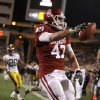 Oklahoma\'s Trent Ratterree (47) scores a touchdown during the Insight Bowl college football game between the University of Oklahoma (OU) Sooners and the Iowa Hawkeyes at Sun Devil Stadium in Tempe, Ariz., Friday, Dec. 30, 2011. Photo by Bryan Terry, The Oklahoman