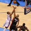 Oklahoma City\'s Russell Westbrook (0) shoots over Miami\'s Shane Battier (31) during Game 2 of the NBA Finals between the Oklahoma City Thunder and the Miami Heat at Chesapeake Energy Arena in Oklahoma City, Thursday, June 14, 2012. Photo by Bryan Terry, The Oklahoman
