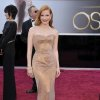 Jessica Chastain arrives at the 85th Academy Awards at the Dolby Theatre on Sunday Feb. 24, 2013, in Los Angeles. (Photo by John Shearer/Invision/AP)