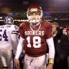 Kansas City , MU, Saturday December 6, 2003.The University of Oklahoma against Kansas State University (KSU) during the Big 12 college football championship game at Arrowhead Stadium. Quarterback Jason White walks off the field after OU\'s loss. Staff photo by Bryan Terry