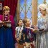 "Photo - FILE - This Nov. 15, 2013 file photo released by Disney shows unidentified Epcot guests meeting Disney characters Anna, left, and her sister Elsa from the animated film ""Frozen"" at the Norway Pavilion at Walt Disney World Resort in Lake Buena Vista, Fla. The meet-and-greets began in November, 2013, at the Norway Pavilion at Disney's Epcot park, but they are now held at Princess Fairytale Hall in the Magic Kingdom. Wait times to meet the sisters stretches for hours and reservations are snapped up as soon as they become available, part of a frenzy for all things ""Frozen.""  (AP Photo/Disney, Gene Duncan)"