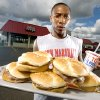 John Marshall High School football player Jamari Pringle poses for a portrait outside the Arby\'s he works at on Friday, August 15, 2008. BY BRYAN TERRY, THE OKLAHOMAN