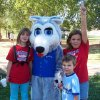 Buddy the Husky Pup with friends Sheree Buchli, Keaton Kessler, and Katherine Kessler at Northern Hills Elementary Fun Fest held September 22 (1 of 5) Community Photo By: Northern Hills PTO Submitted By: Amy,