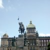 The main square in Prague's New Town Quarter, Wenceslas Square has been center-stage for much of modern Czech history — and its big equestrian statue is a can't-miss-it place to meet up with friends. (Photo by Lauren Mills)