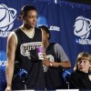 Purdue player Lindsay Wisdom-Hylton and head coach Sharon Versyp prepare to speak to the media before their elite eight appearance in NCAA women\'s basketball tournament at the Ford Center in Oklahoma City, Okla. on Monday, March 30, 2009. PHOTO BY STEVE SISNEY, THE OKLAHOMAN