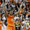 Oklahoma State\'s Le\'Bryan Nash (2) celebrates during an NCAA college basketball game between the Oklahoma State University Cowboys (OSU) and the Missouri Tigers (MU) at Gallagher-Iba Arena in Stillwater, Okla., Wednesday, Jan. 25, 2012. Photo by Bryan Terry, The Oklahoman