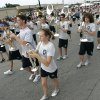 The Edmond North High School Band marches in the LibertyFest Parade in downtown Edmond, OK, Saturday, July 4, 2009. By Paul Hellstern, The Oklahoman