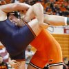 Oklahoma State\'s Austin Marsden wrestlesPatrick Walker of Illinios in the 285-pound match of the NWCA National Duals semifinals wrestling at Gallagher-Iba Arena in Stillwater, Okla., Sunday, Feb. 19, 2012. Oklahoma State won 19-15. Photo by Bryan Terry, The Oklahoman