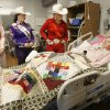 Morgan Davis (left), Sarah Crisswell and Leslie Brumleve visit with 14-year-old Neysa, as rodeo queens from the International Finals Rodeo visit children at the Children\'s Center in Bethany, OK, Friday, Jan. 18, 2008. BY PAUL HELLSTERN, THE OKLAHOMAN