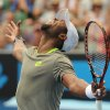 Photo - Donald Young of the U.S. celebrates after defeating Andreas Seppi of Italy in their second round match at the Australian Open tennis championship in Melbourne, Australia, Thursday, Jan. 16, 2014. (AP Photo/Andrew Brownbill)