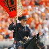 The Spirit Rider and Bullet were kept busy during a college football game between the Oklahoma State University Cowboys (OSU) and the University of Kansas Jayhawks (KU) at Boone Pickens Stadium in Stillwater, Okla., Saturday, Oct. 8, 2011 Photo by Steve Sisney, The Oklahoman